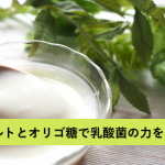 豆乳グルトはちょっと不味い?!オリゴ糖と組み合わせて乳酸菌の力もアップ!