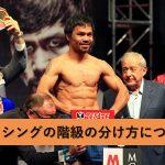ボクシングの階級制について。階級名一覧・体重制限・日本人チャンピオンを調べてみた!